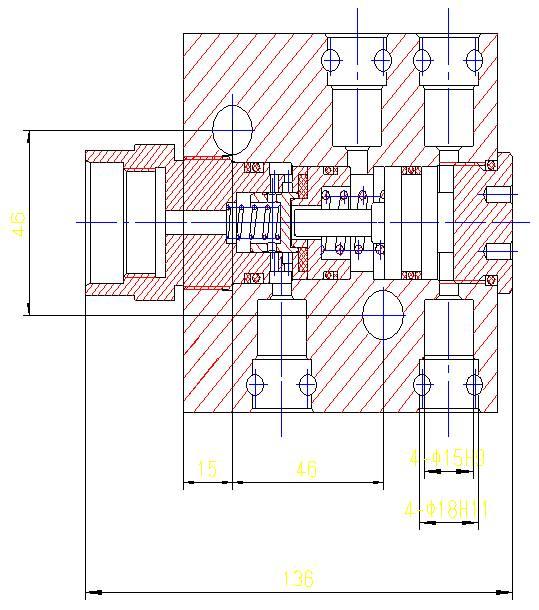 单向锁使用在液压支架千斤顶上面,用来锁闭千斤顶上腔或者下图片